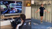 Les sportifs se confi(n)ent : Crossfit insolite et simulateur pour Guillaume De Ridder