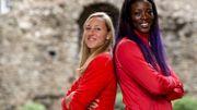 Eline Berings et Anne Zagre sur 100m haies