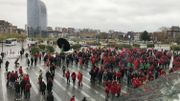 Mobilisation de la FGTB à la gare des Guillemins