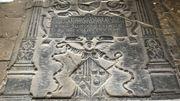 La pierre tombale de Jean Steinier à Pont-de-Loup