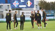 Les Diables au complet à la veille du match contre l'Islande