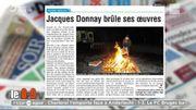Un peintre belge brûle ses œuvres