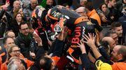 Troisième victoire consécutive en Moto2 pour Binder, qui s'impose à Valence