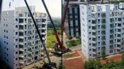 Chine: ils construisent un immeuble de 10 étages en moins de 29heures