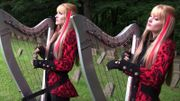 """[Zapping 21] Les harp twins reprennent """"The Trooper"""""""