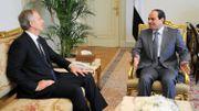 Le président égyptien al-Sissi, en discussion avec Tony Blair envoyé officiel du Quartet pour le Moyen-Orient.
