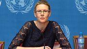La porte-parole du Haut Commissariat des Nations Unies aux droits de l'homme, Cécile Pouilly.