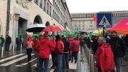 Les manifestants se sont réunis Place Albertine à Bruxelles