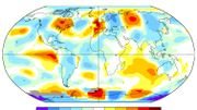 Carte des anomalies de températures au mois de juin 1976 - données de la NASA