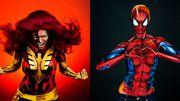 Ces super-héroïnes sont en fait d'incroyables photos avec du body painting: la preuve en vidéo