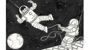 Près de 150.000euros pour un dessin de Tintin sur la lune