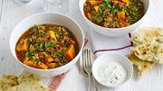 Recette de Candice : Curry de lentilles brunes et de patates douces