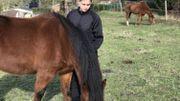 John s'occupe notamment des chevaux du centre.