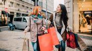 Girls carrying shopping bags