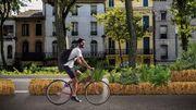 De la paille pour de nouvelles pistes cyclables éphémères