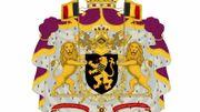 Les nouvelles armoiries du Roi et de la Reine.