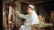 Vente aux enchères d'une toile de Churchill représentant Aix-en-Provence