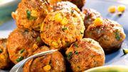 Recette de Candice: Boulettes de poulet au maïs et aux tomates confites