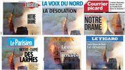 Le symbole français en flammes pleuré dans la presse belge et hexagonale