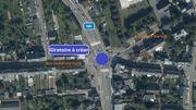 N4 – Arlon: basculement de la circulation en vue de la poursuite de l'aménagement d'un giratoire au carrefour Liedel