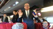 Charles Michel a rejoint Paris à bord d'un Thalys.