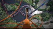 Des montagnes russes de tous les records inaugurées en 2019 au Canada