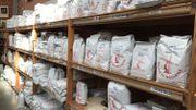 Les farines du moulin de Moulbaix en vente au magasin