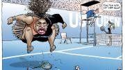 Un Australien sous le feu des critiques pour une caricature de Serena Williams