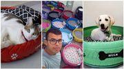 Un Brésilien convertit des vieux pneus de voiture en abri pour chiens et chats