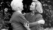 Barbara Bush et Hillary Clinton