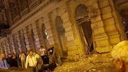 Les dégâts de l'explosion de samedi à Budapest