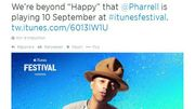 Pharrell Williams, Maroon 5 et David Guetta au 8e iTunes Festival de Londres