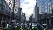 Gilets jaunes à Bruxelles: les premières actions sont en cours (photos)
