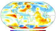 Carte des anomalies de températures au mois de juillet 1976 - données de la NASA