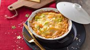 Recette : Clafoutis aux poireaux, saumon fumé et gruyère