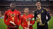 Courtois, Hazard et Lukaku célébrés pour leur Mondial avant Belgique - Suisse