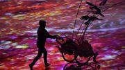 Différents tableaux, avec des acteurs et artistes ont été présentés