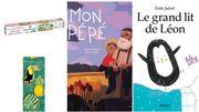 Un kit d'ustensiles et deux livres pour enfants pour faire voyager vos petits bouts