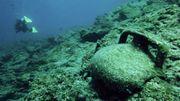 Amphora Under The Sea in Aegean Sea, Bodrum, Turkey