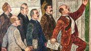 En 1917, les Alandais ont refusé le statut d'autonomie qui leur était proposé par la Finlande. Ils quittent alors la réunion. Cet épisode est illustré encore aujourd'hui sur un des mur du parlement à Mariehamn.