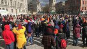 Un petit rayon de soleil lors de la manifestation à Liège