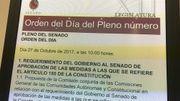 Ordre du jour du Sénat à Madrid