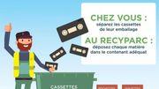 Jusqu'au 30juin, ramenez vos cassettes VHS et audio au recyparc!