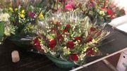 Les bouquets prêts pour la vente