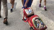 Des élèves à la sortie d'une école à Rio de Janeiro - Brésil
