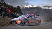La Hyundai i20 Coupé WRC de Thierry Neuville sur le Monte-Carlo 2020