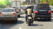 Remontées de files par des motards : 15% en plus d'accidents