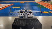 Un robot réalise une fresque en dominos et bat un record