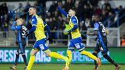 Waasland-Beveren piège le FC Bruges et quitte la dernière place