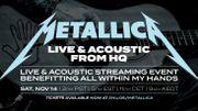 Metallica a livré son show mi-acoustique, mi-électrique